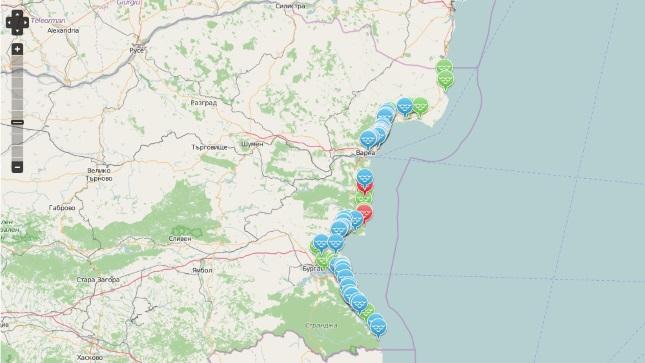 68774e08abf Нова карта показва цените на чадъри и шезлонги по морето - Economy.bg